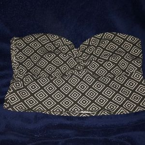 Victoria Secret Pink- Large Black Bandeau